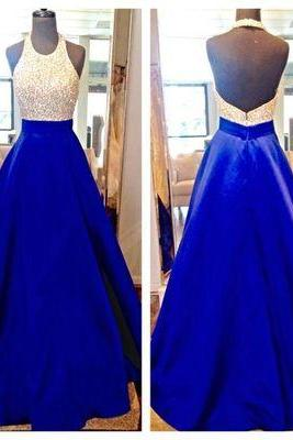 Ball Gown Prom Dresses,Sexy Prom Dress,backless Prom Gown kb20182335