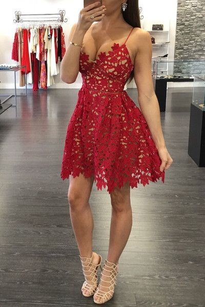 Red Homecoming Dress,Homecoming Dresses,Unique Homecoming Dress,Graduation Dress kb20182623